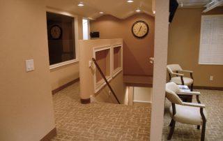 tan colored hallway & stairway
