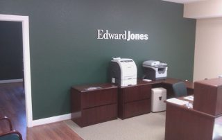 Edward Jones Green Accent Wall